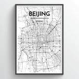 Beijing Map Art