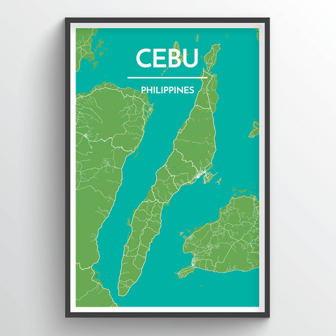 Affordable wholesale art prints of Philippine Islands - City Map Art Print