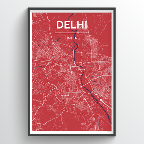 Affordable wholesale art prints of Delhi - City Map Art Print