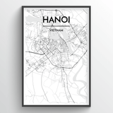 Hanoi Map Art