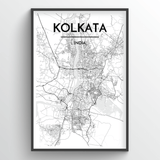 Kolkata Map Art