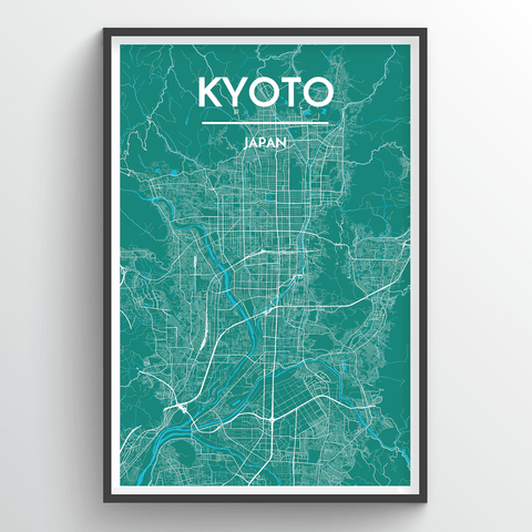 Affordable wholesale art prints of Kyoto - City Map Art Print