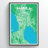 Affordable wholesale art prints of Manila - City Map Art Print