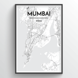 Mumbai Map Art