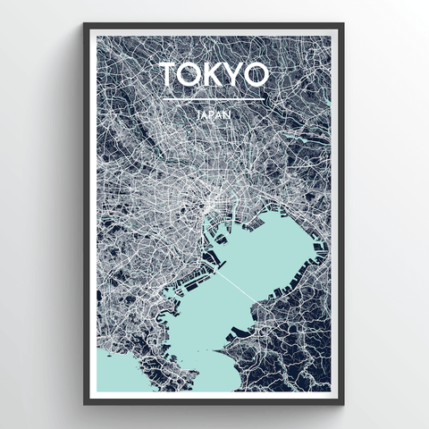 Affordable wholesale art prints of Tokyo - City Map Art Print
