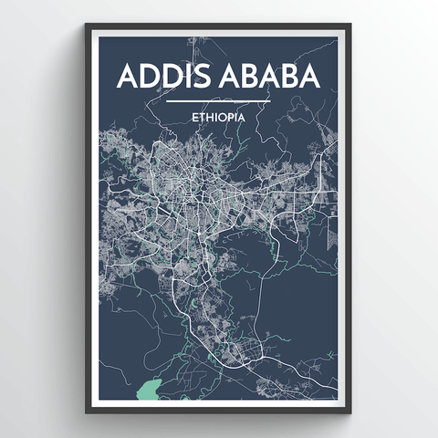 Affordable wholesale art prints of Addis Ababa - City Map Art Print