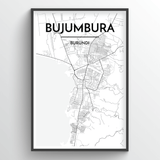 Bujumbura Map Art