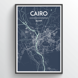 Affordable wholesale art prints of Cairo - City Map Art Print