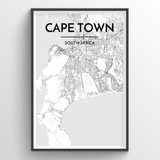 Cape Town Map Art