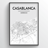 Casablanca Map Art