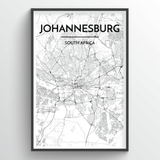 Johannesburg Map Art