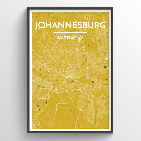 Affordable wholesale art prints of Johannesburg - City Map Art Print