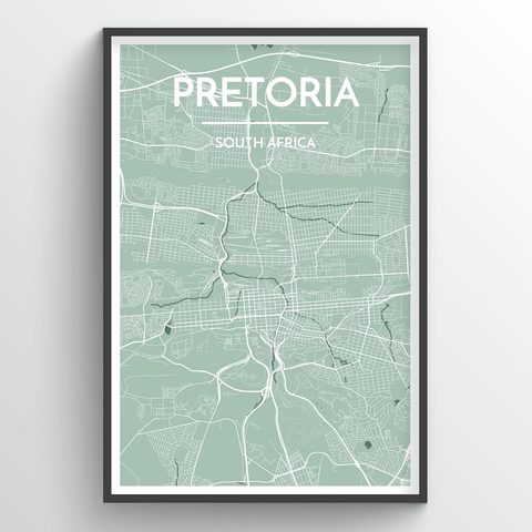 Affordable wholesale art prints of Pretoria - City Map Art Print