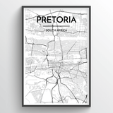 Pretoria Map Art