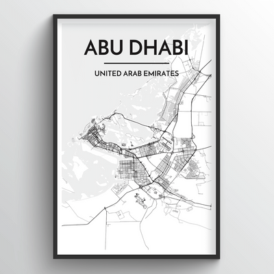 Abu Dhabi Map Art