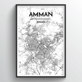 Amman Map Art