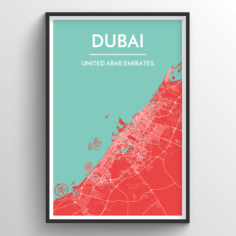 Affordable wholesale art prints of Dubai - City Map Art Print