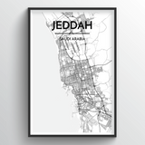 Jeddah Map Art