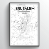 Jerusalem Map Art