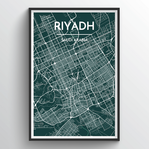 Affordable wholesale art prints of Riyadh - City Map Art Print
