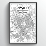 Riyadh Map Art