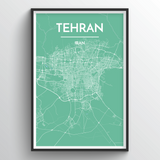 Affordable wholesale art prints of Tehran - City Map Art Print