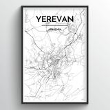 Yerevan Map Art