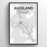 Auckland Map Art