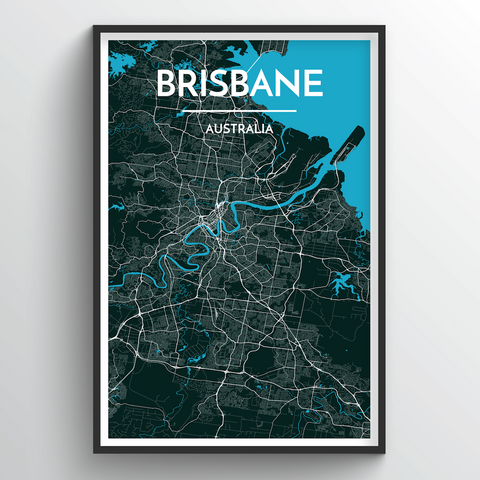 Affordable wholesale art prints of Brisbane - City Map Art Print
