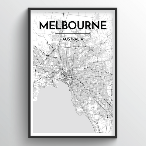 Melbourne Map Art