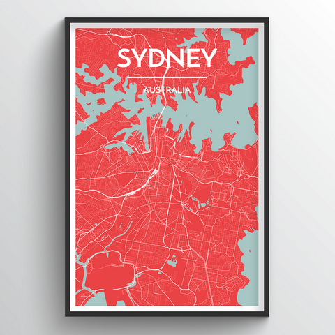 Affordable wholesale art prints of Sydney - City Map Art Print