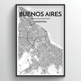 Buenos Aires Map Art