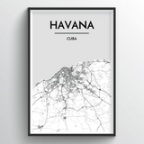Havana Map Art