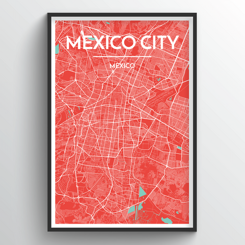 Affordable wholesale art prints of Mexico - City Map Art Print