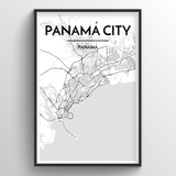 Panama Map Art