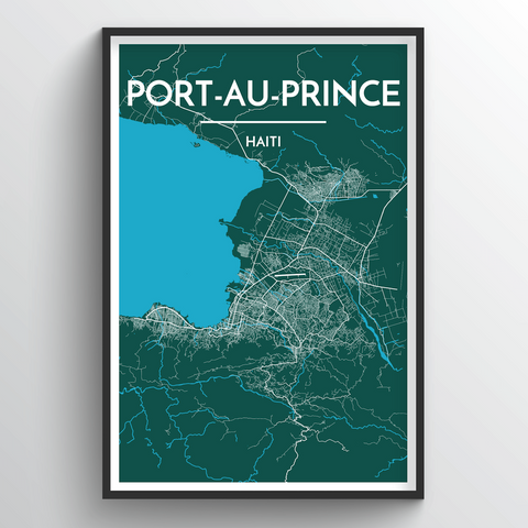 Affordable wholesale art prints of Port Au Prince - City Map Art Print
