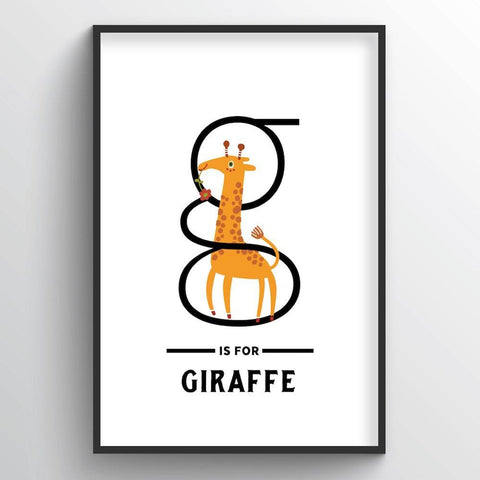 Animal Alphabet - Letter G - Point Two Design