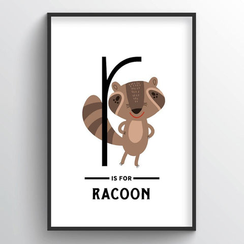 Animal Alphabet - Letter R - Point Two Design
