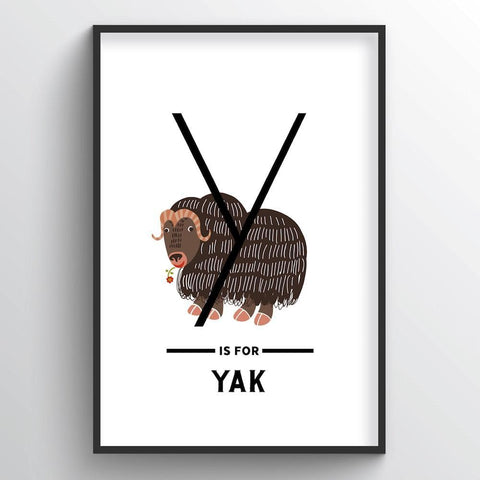 Animal Alphabet - Letter Y - Point Two Design