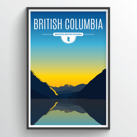 Affordable wholesale art prints of British Columbia - Illustrated Province Art