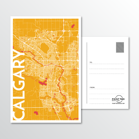 Affordable wholesale postcards of Calgary - Illustrated Province Art