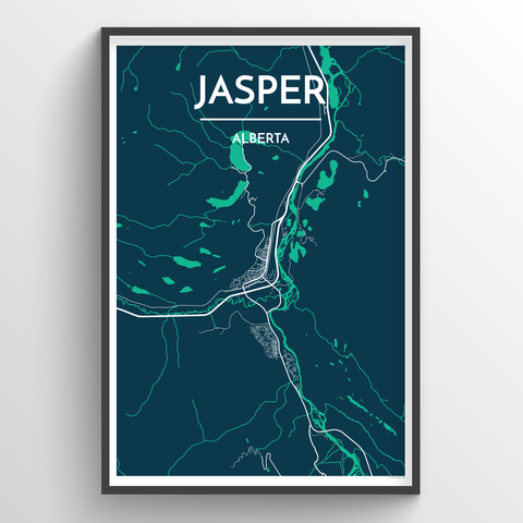 Affordable wholesale art prints of Jasper - City Map Art Print