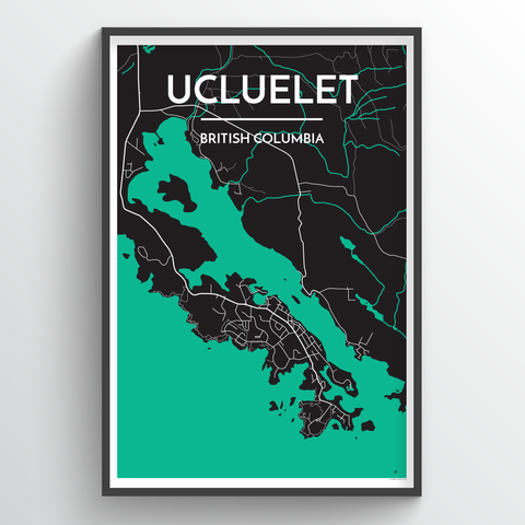 Affordable wholesale art prints of Ucluelet - City Map Art Print