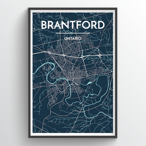 Affordable wholesale art prints of Brantford - City Map Art Print