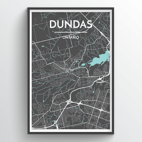 Affordable wholesale art prints of Dundas - City Map Art Print