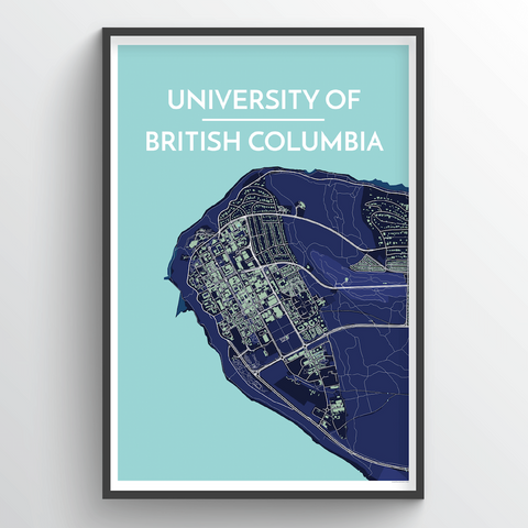 Affordable wholesale art prints of University of British Columbia - City Map Art Print