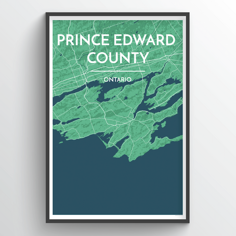Affordable wholesale art prints of Prince Edward County - City Map Art Print