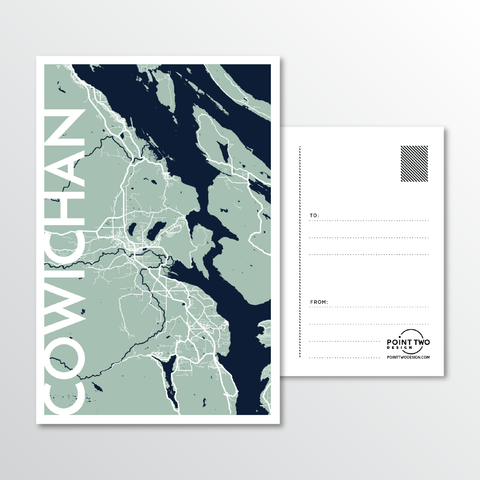 Affordable wholesale postcards of Cowichan - Illustrated Province Art