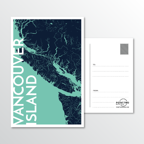 Affordable wholesale postcards of Vancouver Island - Illustrated Province Art