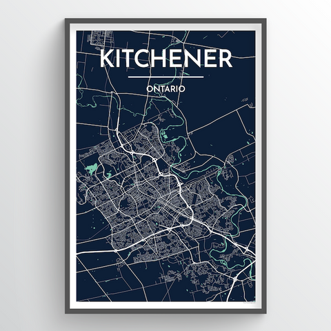 Kitchener Map Art
